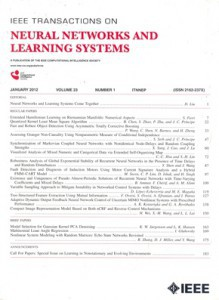 IEEE Transactions on Neural Networks and Learning Systems front cover